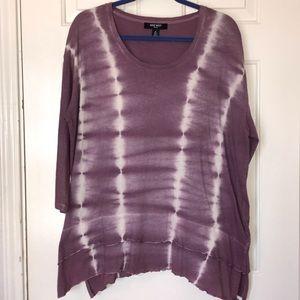 NWT Nine West Purple Tie Dye Shirt Size Medium